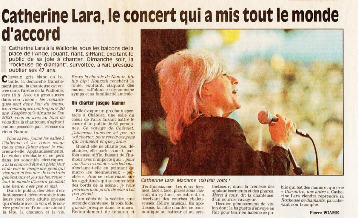 Journal Vers L'avenir du lundi 21 septembre 1992