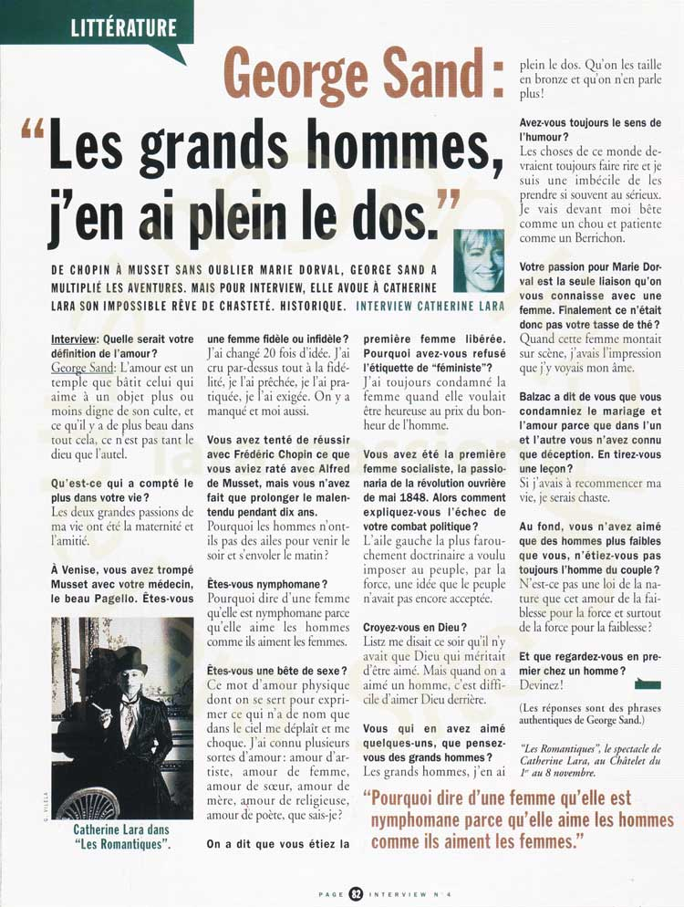 Magazine Interview n°4 de Novembre