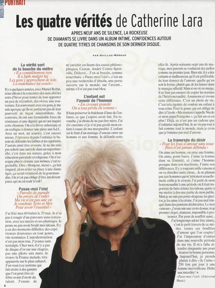 Paris Match - Août 2005